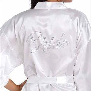 Other - Bride satin kimono size large white new